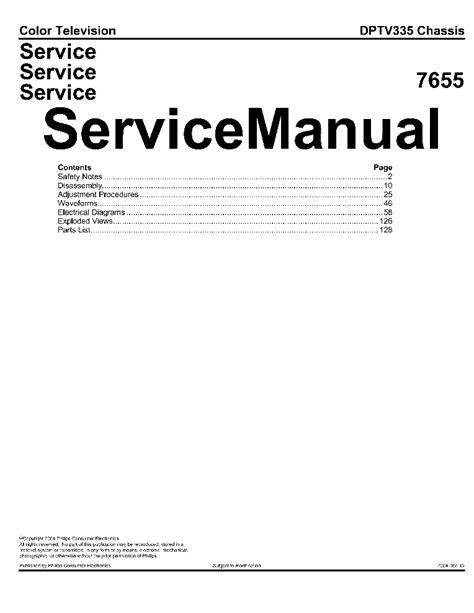 Philips Dptv335 Service Manual (ePUB/PDF)