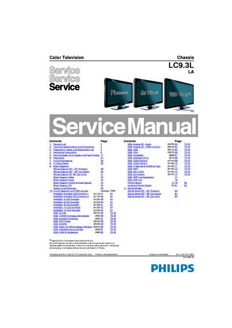 Philips Tv Service Manuals ePUB/PDF