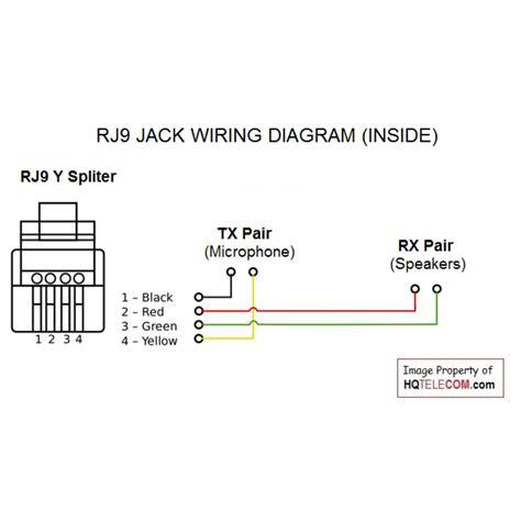 phone handset wiring diagram