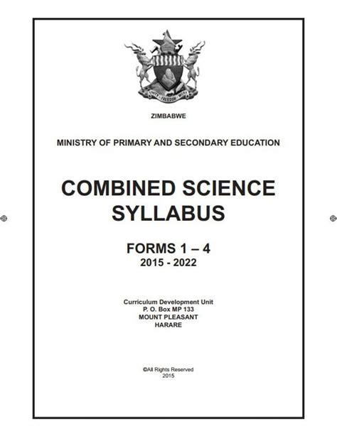 Physics Syllabus 2015 Zimsec Olevel (ePUB/PDF)
