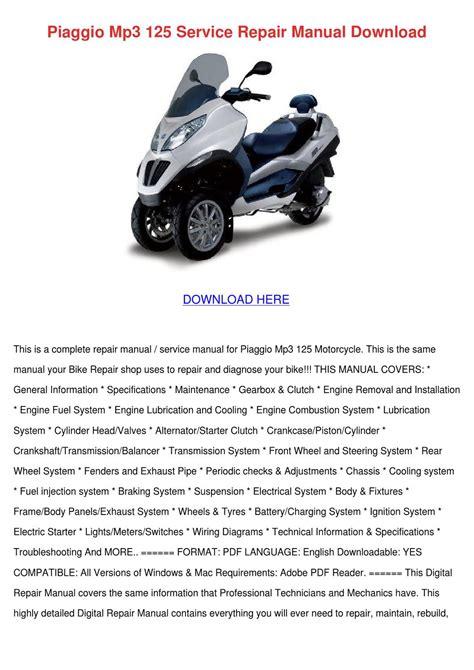 Piaggio Repair Manual (ePUB/PDF) Free