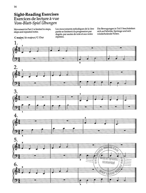 Piano Sight Reading A Fresh Approach Pt 1 The Sight Reading Series