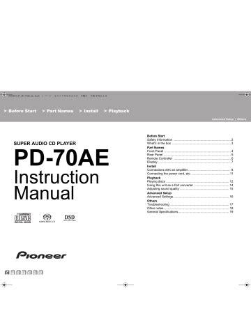 Pioneer Instruction Manual (ePUB/PDF) Free