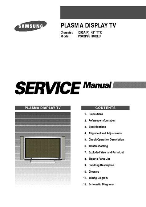 Plasma Tv Manuals (ePUB/PDF) Free