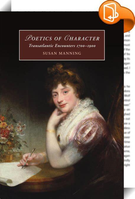 Poetics Of Character Manning Susan (ePUB/PDF)