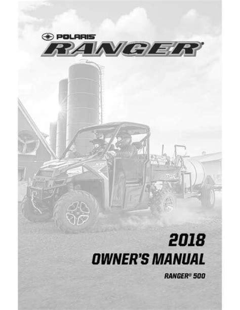 Polaris Ranger 500 Owners Manual Pdf (ePUB/PDF)