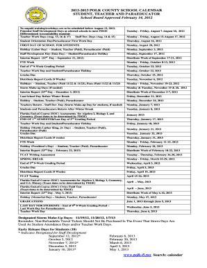 Polk County School Calendar (ePUB/PDF) Free