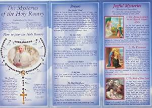 Pope Francis How To Pray The Rosary Pamphlet With Holy Card And He Lives Cross Bookmark