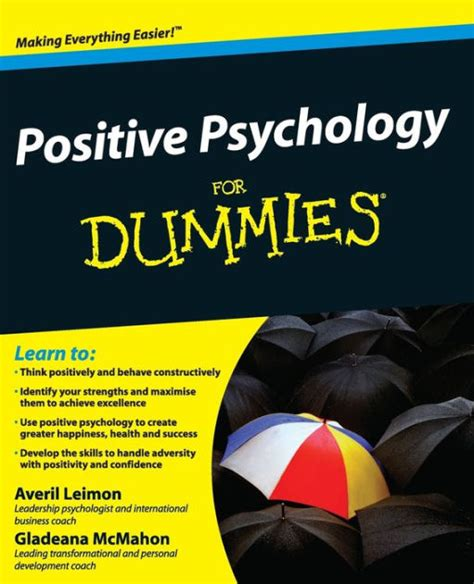 Positive Psychology For Dummies Leimon Averil Mcmahon Gladeana (ePUB