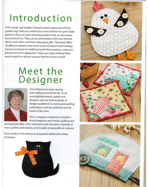 Pot Holders For All Seasons Annies Quilting