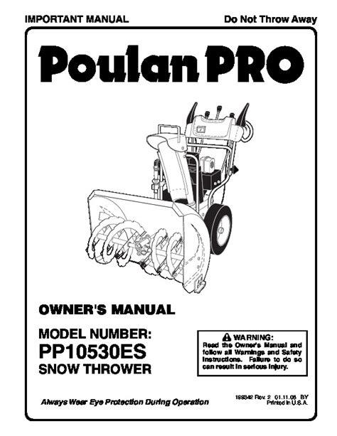 Poulan Snow Blower Manual (ePUB/PDF) Free