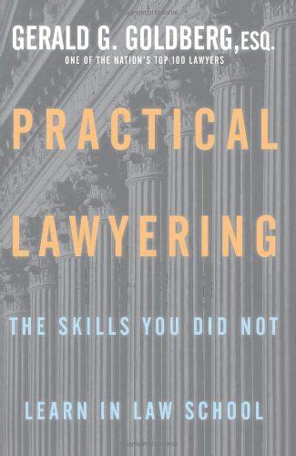 Practical Lawyering The Skills You Did Not Learn In Law School
