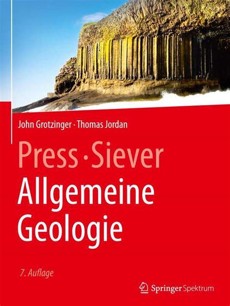 Press Siever Allgemeine Geologie (ePUB/PDF)
