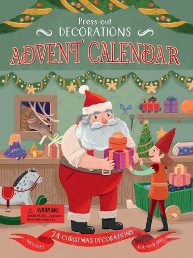 Pressout Decorations Advent Calendar Includes 24 Christmas Decorations For Your Tree