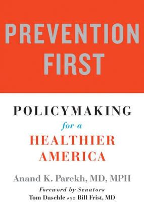 Prevention First Policymaking For A Healthier America