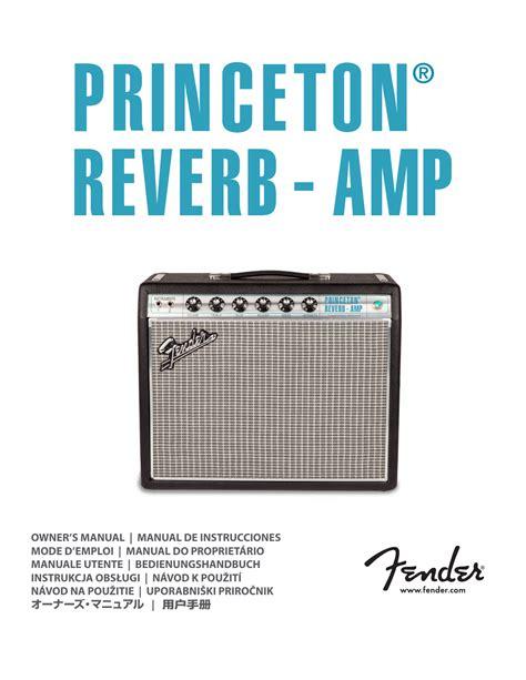 Princeton Reverb Service Manual (ePUB/PDF)