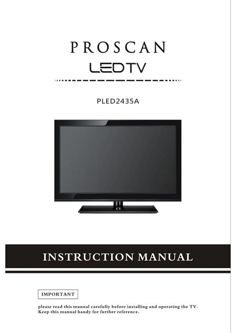 Problems Proscan Tv Manual (ePUB/PDF) Free
