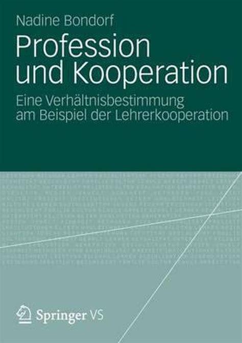 Profession Und Kooperation Bondorf Nadine (ePUB/PDF) Free