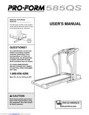 Proform 585 Qs Treadmill Manual (ePUB/PDF)