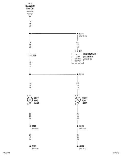 pt cruiser backup light wiring diagram