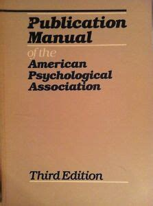 Publication Manual Of The American Psychological Association Fourth Edition