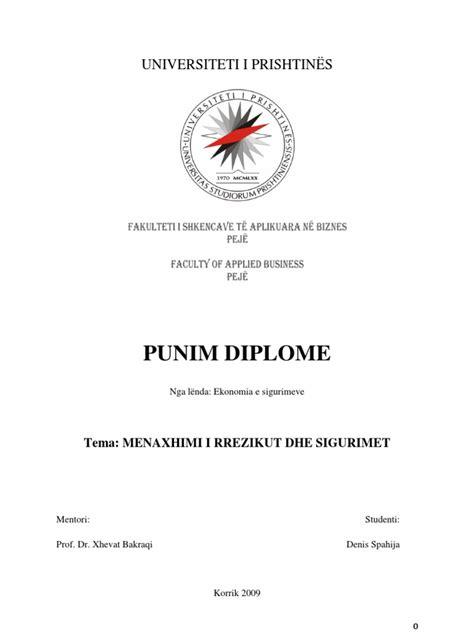 Punim Diplome Menaxhimi I Burimeve Njerzore Kosove (ePUB/PDF)