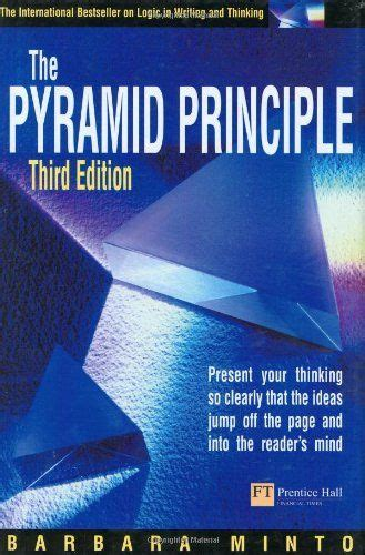 Pyramid Principle Present Your Thinking So Clearly That The Ideas Jump Off The Page And Into The Readers Mind