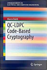 Qcldpc Codebased Cryptography Springerbriefs In Electrical And Computer Engineering