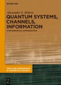 Quantum Systems Channels Information Holevo Alex Ander S (ePUB/PDF)