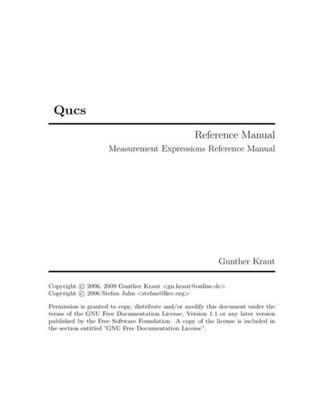 Qucs Manual ePUB/PDF