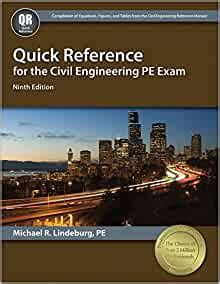 Quick Reference For The Civil Engineering Pe Exam 9th Ed
