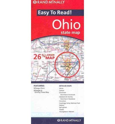 Rand Mcnally Easy To Read Ohio State Map