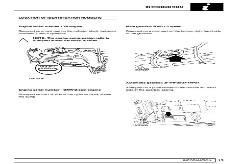Range Rover Classic 1993 Repair Service Manual (ePUB/PDF)