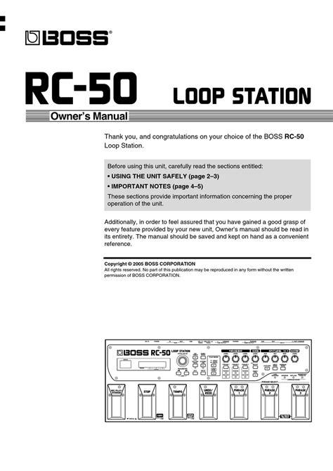 Rc 50 Manual (ePUB/PDF) Free