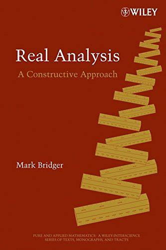 Real Analysis Bridger Mark (ePUB/PDF) Free