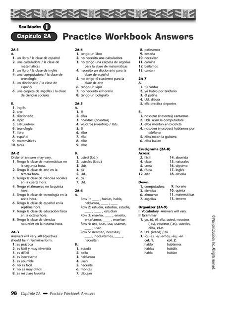 Realidades 2 Workbook Answers Pg 137 (ePUB/PDF) Free