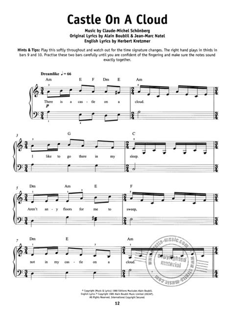 Really Easy Piano Les Miserables