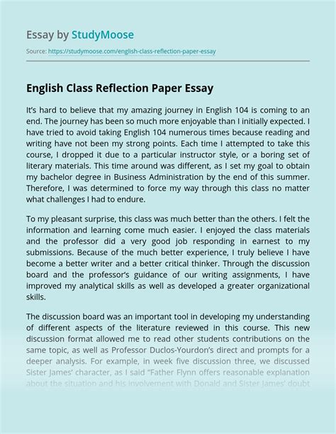 x higher english a grade folio essays creative reflective