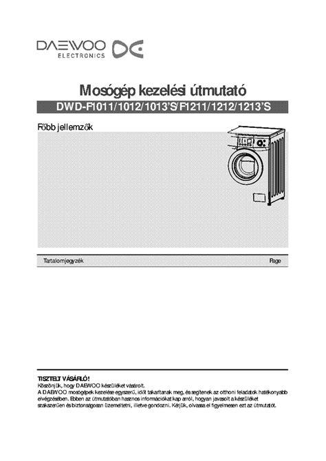 Repair Manual Daewoo Dwd F1211 1212 1213 Washing Machine (ePUB/PDF)