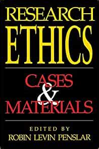 Research Ethics Cases And Materials