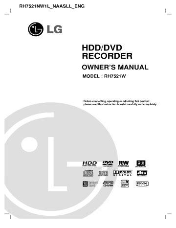 Rh7521w Manual (ePUB/PDF)