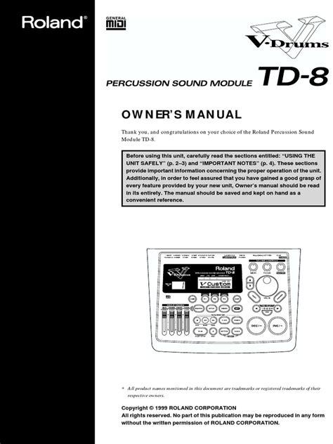 Roland Td 8 Manual (ePUB/PDF) Free