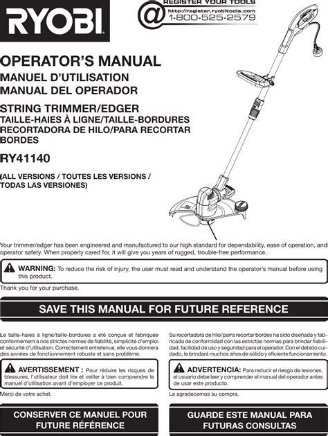 Ryobi Parts Manual (ePUB/PDF) Free