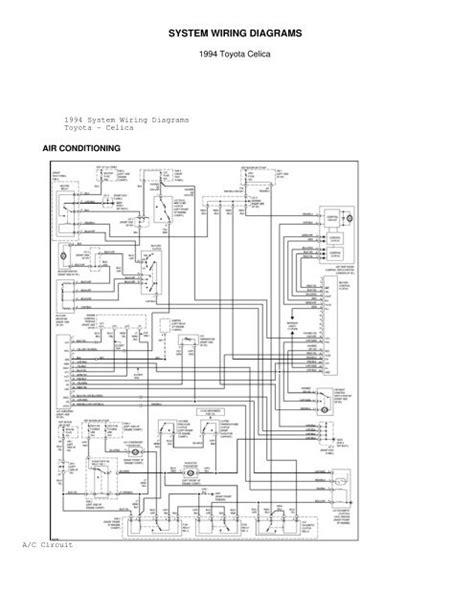 toyota celica gt radio wiring diagram images toyota system wiring diagrams celicatech