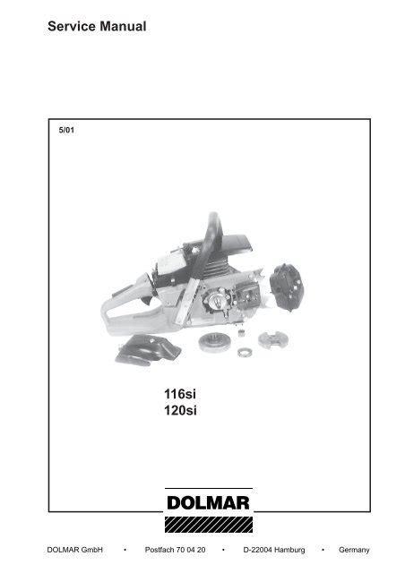 Sachs Dolmar 116si Parts Manual (PDF files/ePubs)