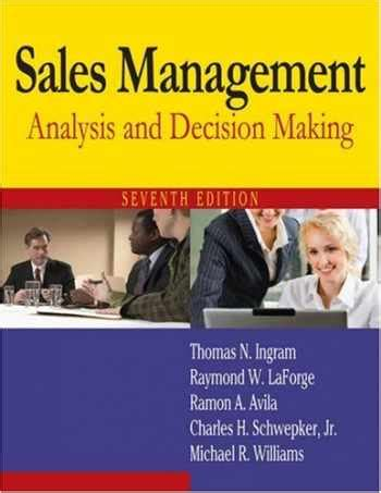 Sales Management Analysis And Decision Making