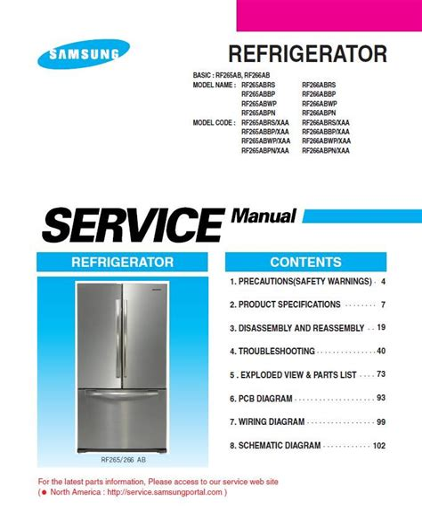 Samsung Rf265aabp Service Manual And Repair Guide (ePUB/PDF) Free