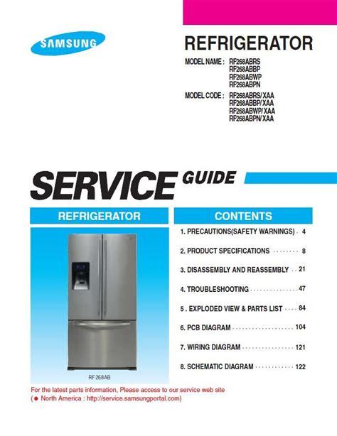 Samsung Rf268abrs Service Manual Repair Guide (ePUB/PDF)