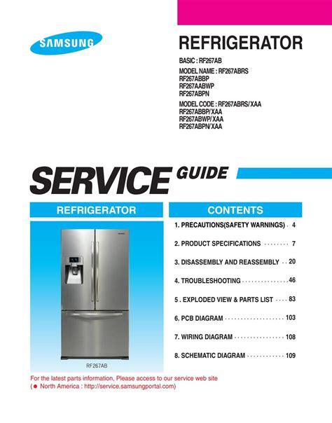 Samsung Rsg5dumh1 Refrigerator Service Manual (ePUB/PDF) Free