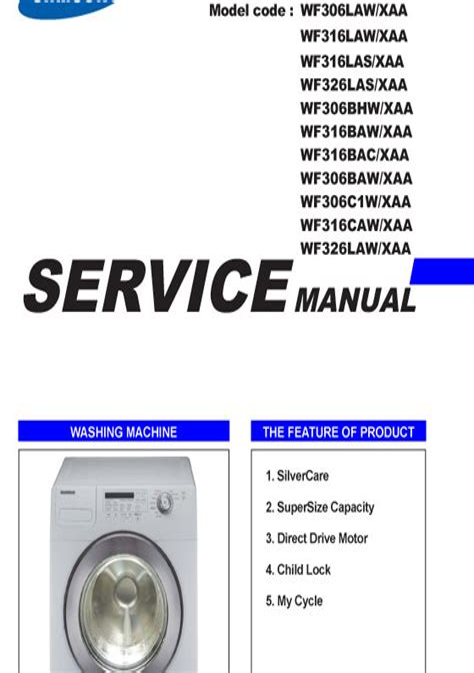 Samsung Wf316law Wf316las Service Manual And Repair Guide (ePUB/PDF